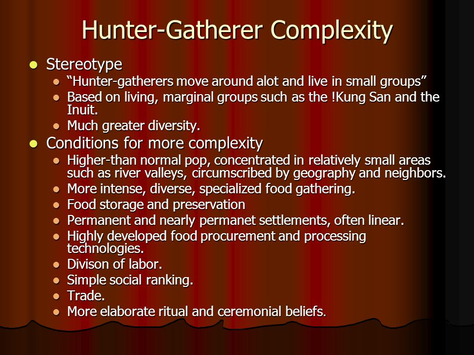 Hunter-Gatherer Complexity
