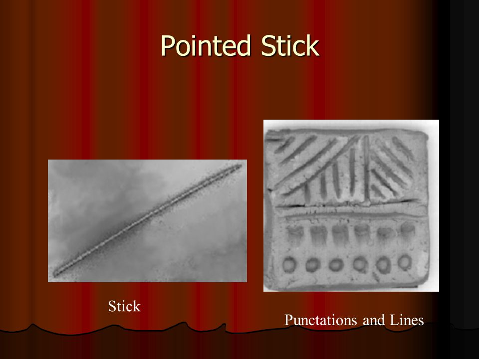 Pointed Stick Stick Punctations and Lines