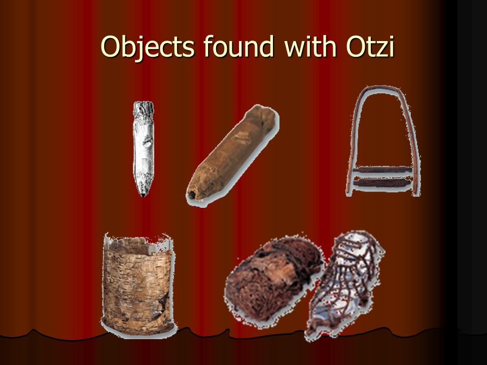 Objects found with Otzi