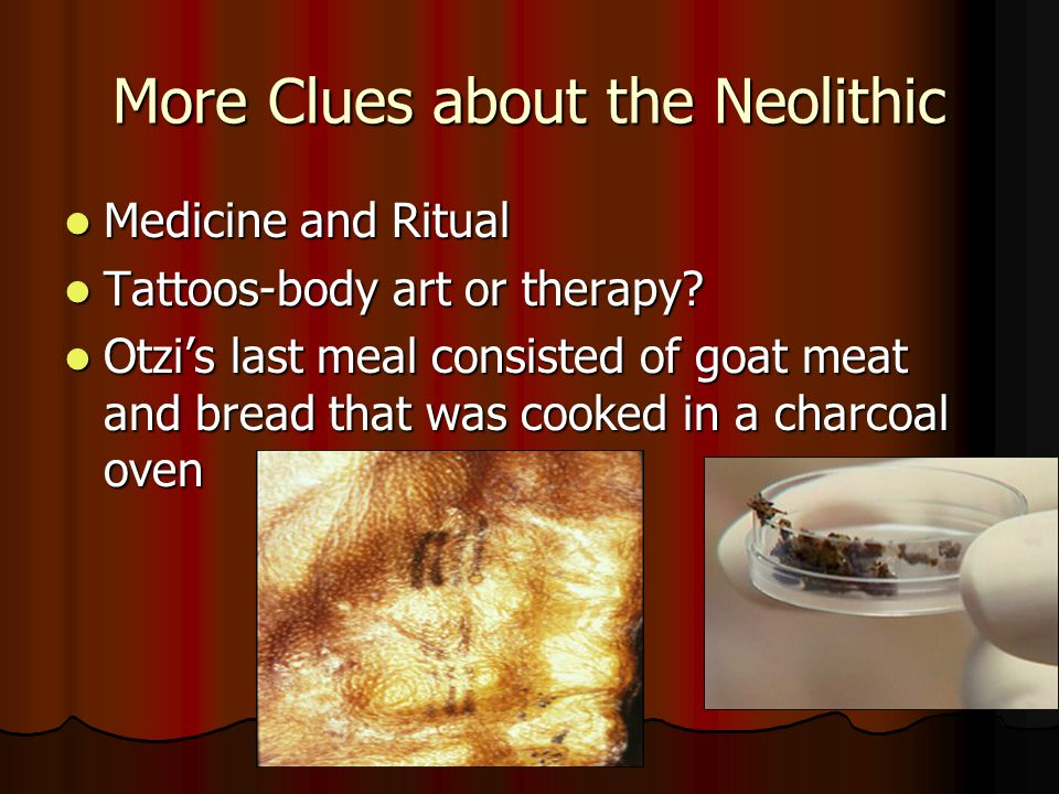 More Clues about the Neolithic