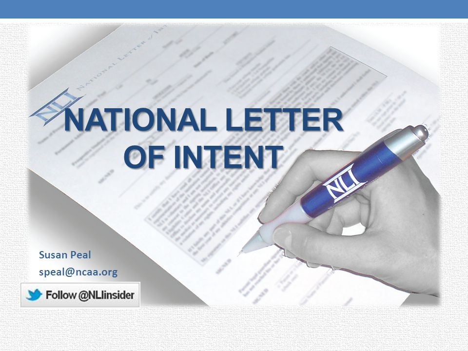 National Letter Of Intent  Ppt Video Online Download