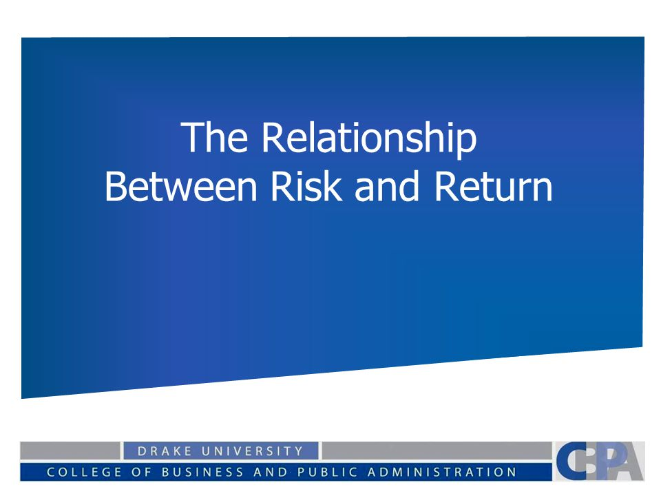 the relationship between risk and expected returns