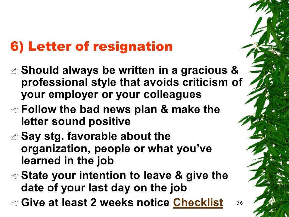 6 letter of resignation - What Should A Letter Of Resignation Say