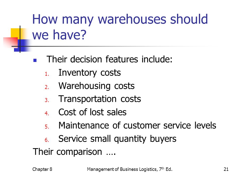 How many warehouses should we have