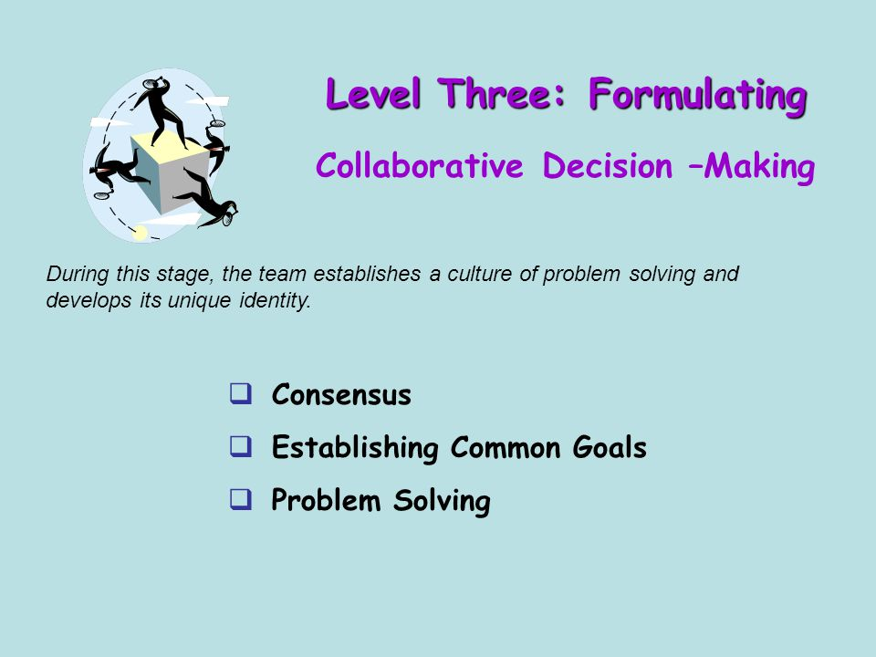Level Three: Formulating Collaborative Decision –Making