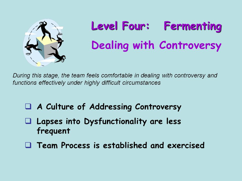 Level Four: Fermenting Dealing with Controversy