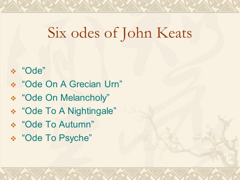 Keats' Poems