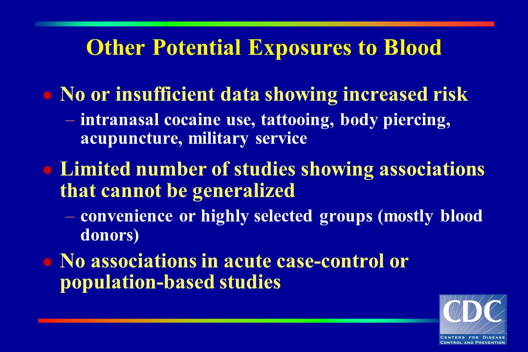 Other Potential Exposures to Blood