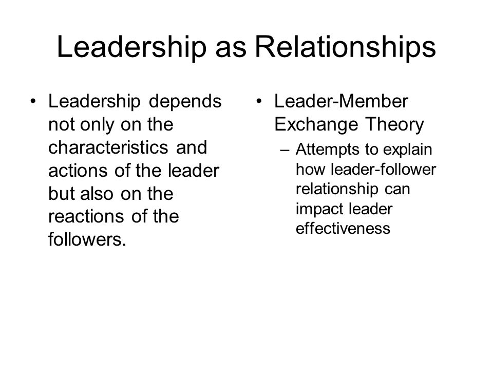 leader follower relationship definition
