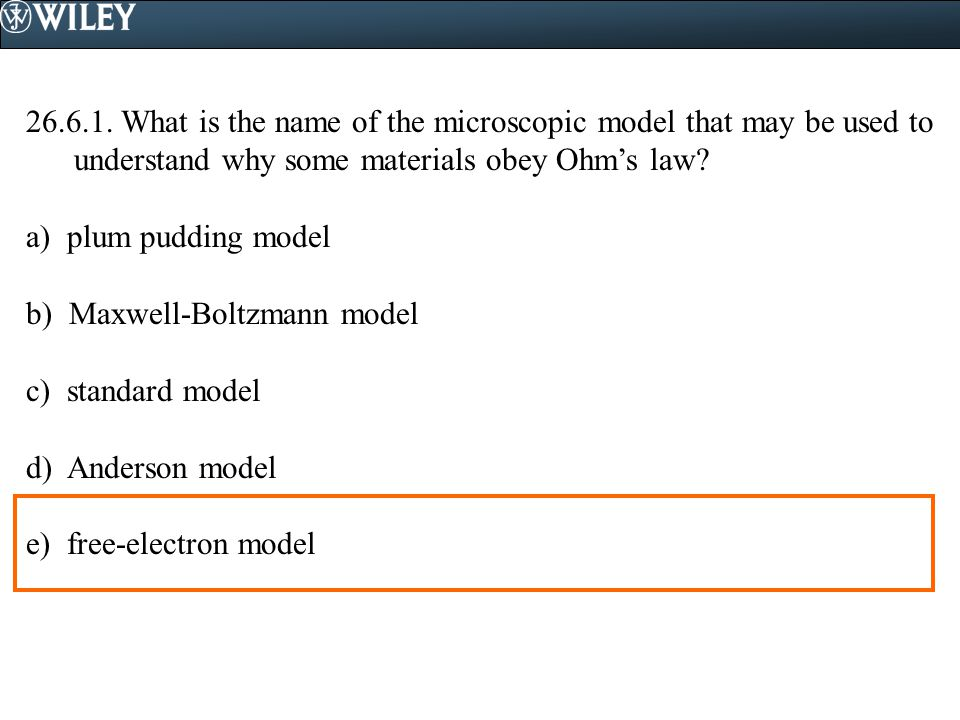 What is the name of the microscopic model that may be used to understand why some materials obey Ohm's law