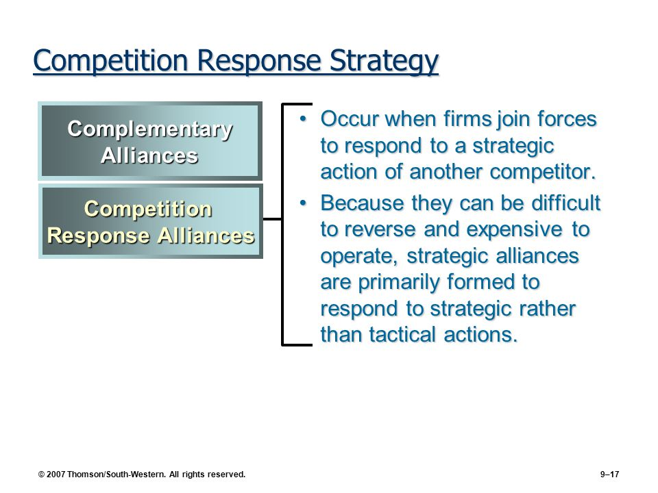 strategic alliances a competitive necessity Alliances as competitive strategy in the oil&gas theory on strategic alliances 13 and of his belief in the necessity of iocs and nocs working.