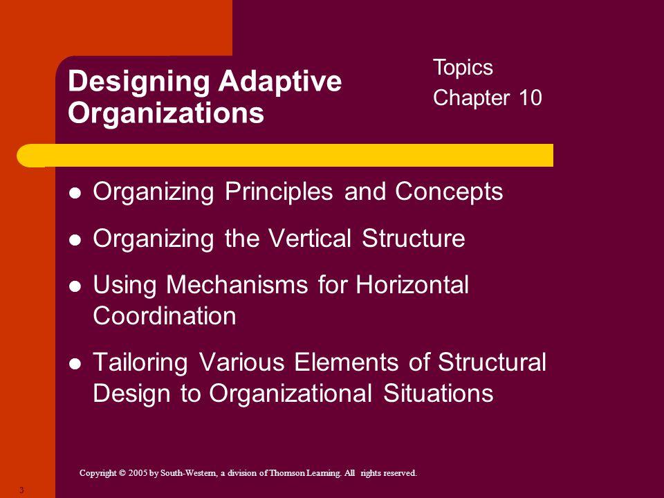 Designing Adaptive Organizations