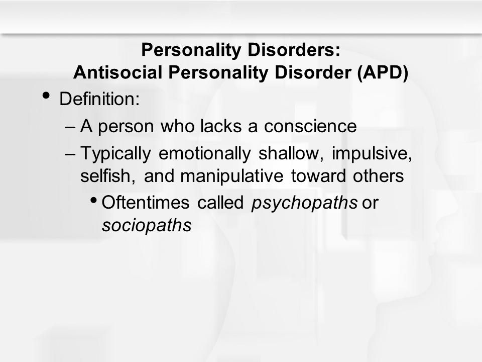 PERSONALITY DISORDER DEFINITION PDF