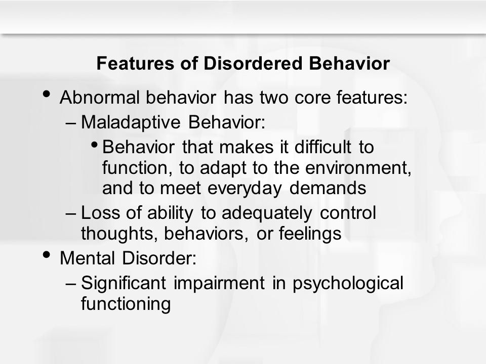 maladaptive behaviour