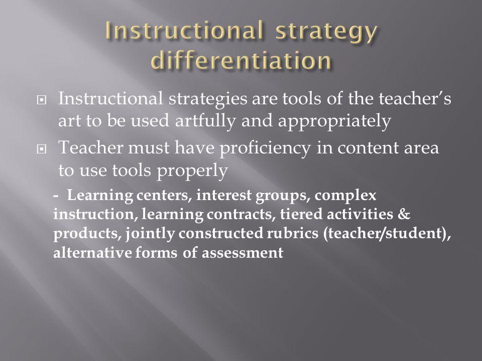 instructional strategies for art