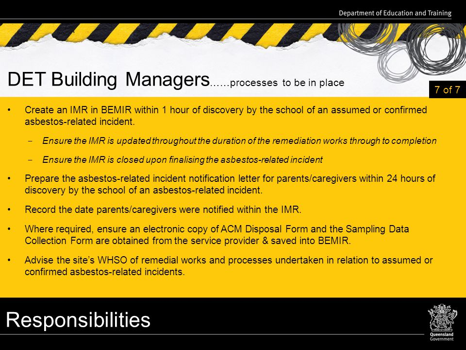 Asbestos management team amt training ppt download 27 responsibilities yelopaper Choice Image
