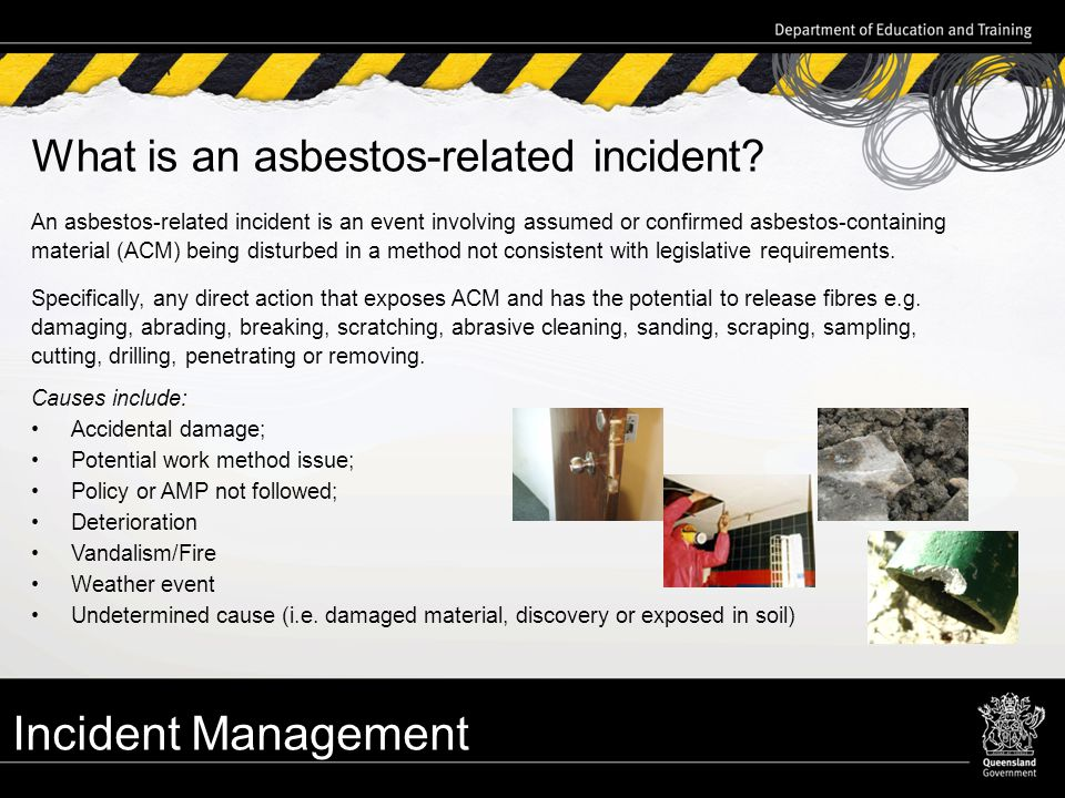 Asbestos management team amt training ppt download incident management what is an asbestos related incident yelopaper Choice Image