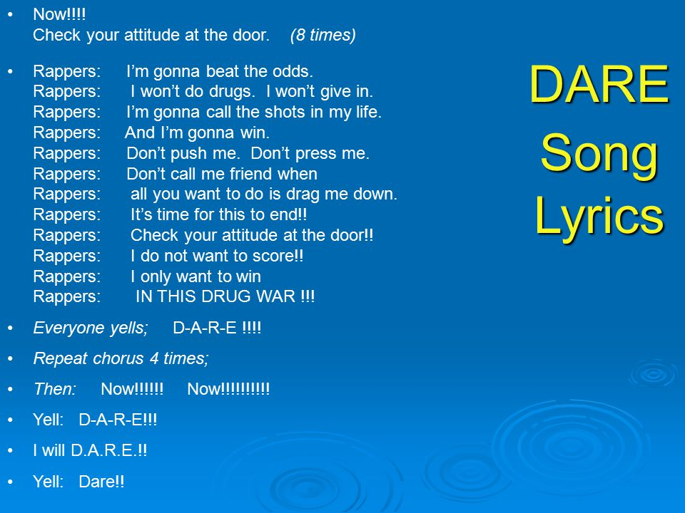 Lyric blue song lyrics : D.A.R.E. Song. - ppt video online download