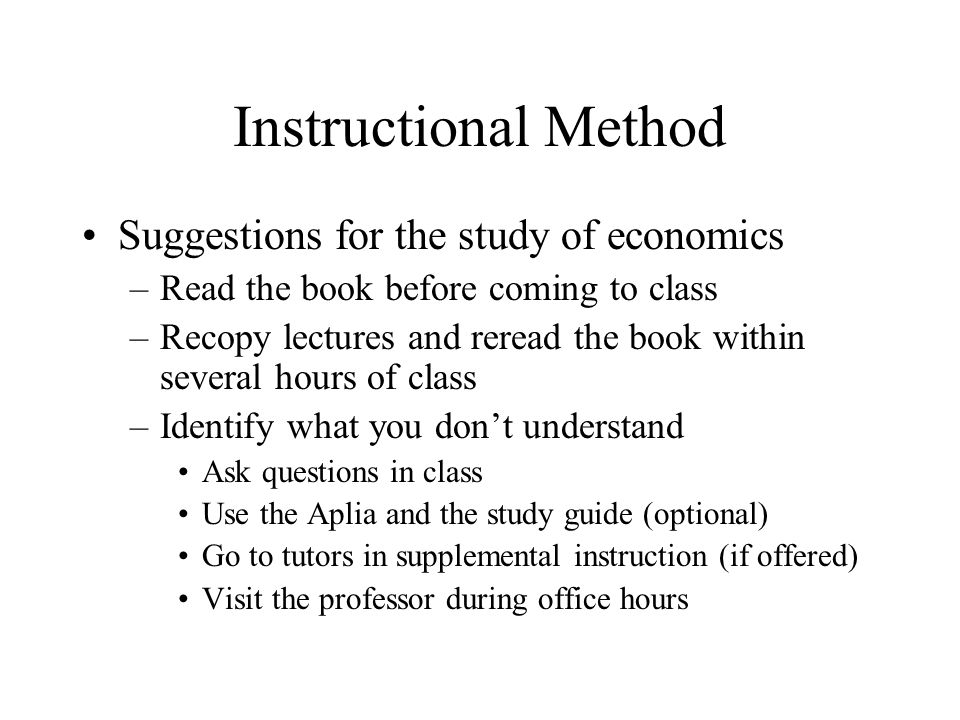 methods of study in economics The economic framework is a main method used for the separation of the study of economics it provides distinction between certain areas of economics the modern economic thought recognizes the separation between macro- and micro-economics.