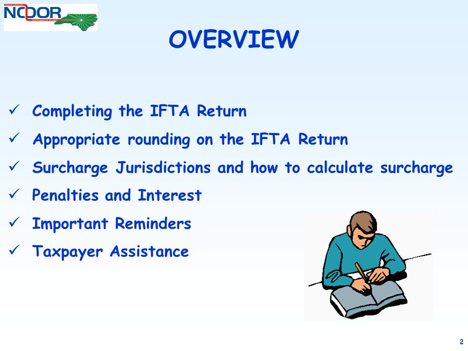 OVERVIEW Completing the IFTA Return