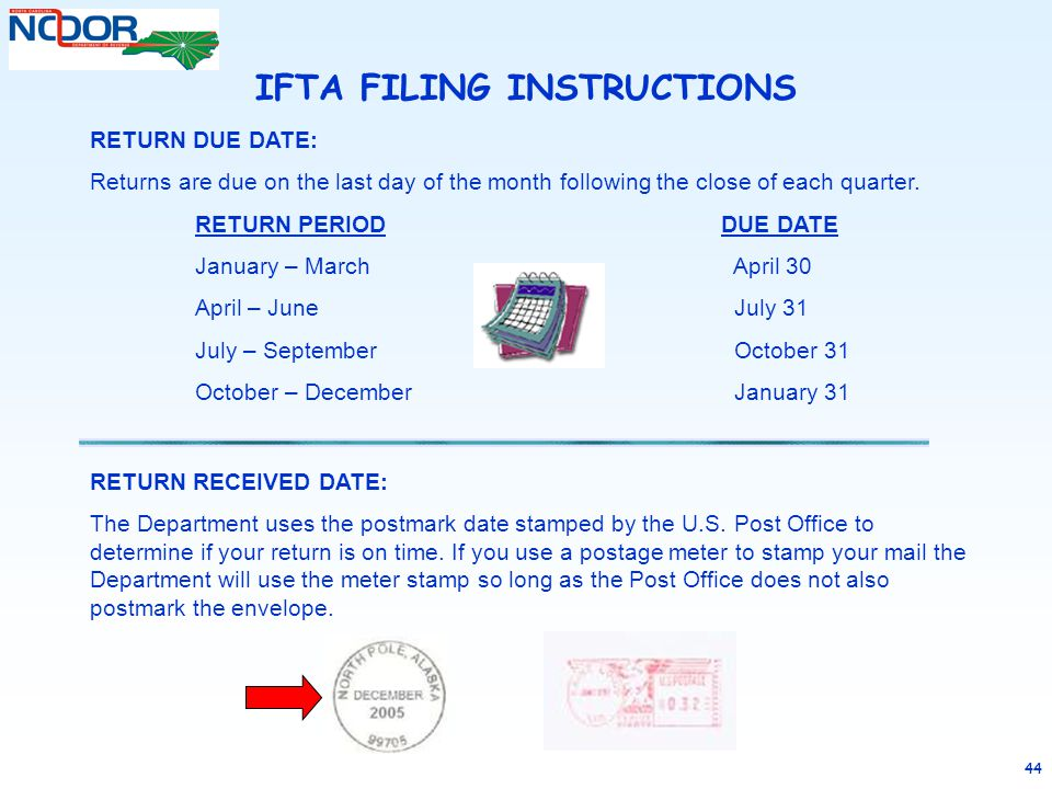 IFTA FILING INSTRUCTIONS