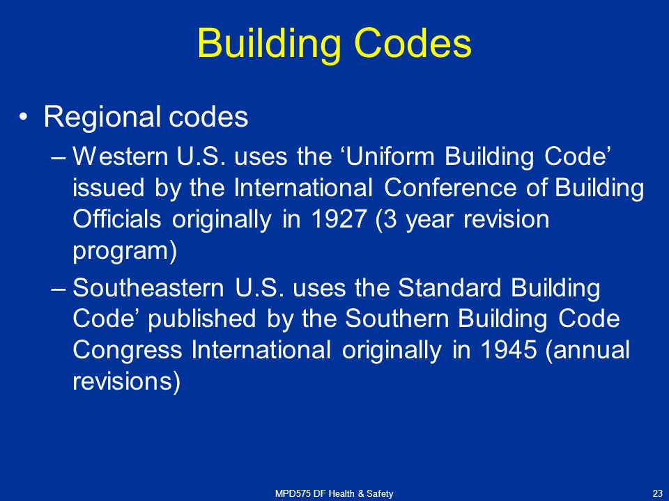 Southern Standard Building Codes