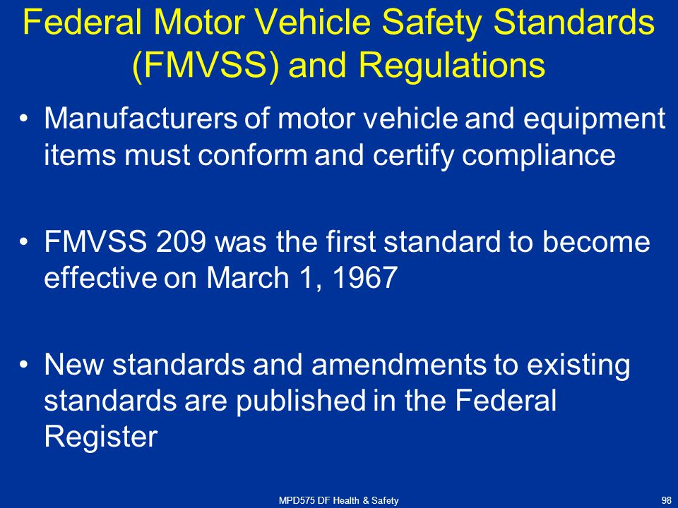 federal motor vehicle safety standard 208