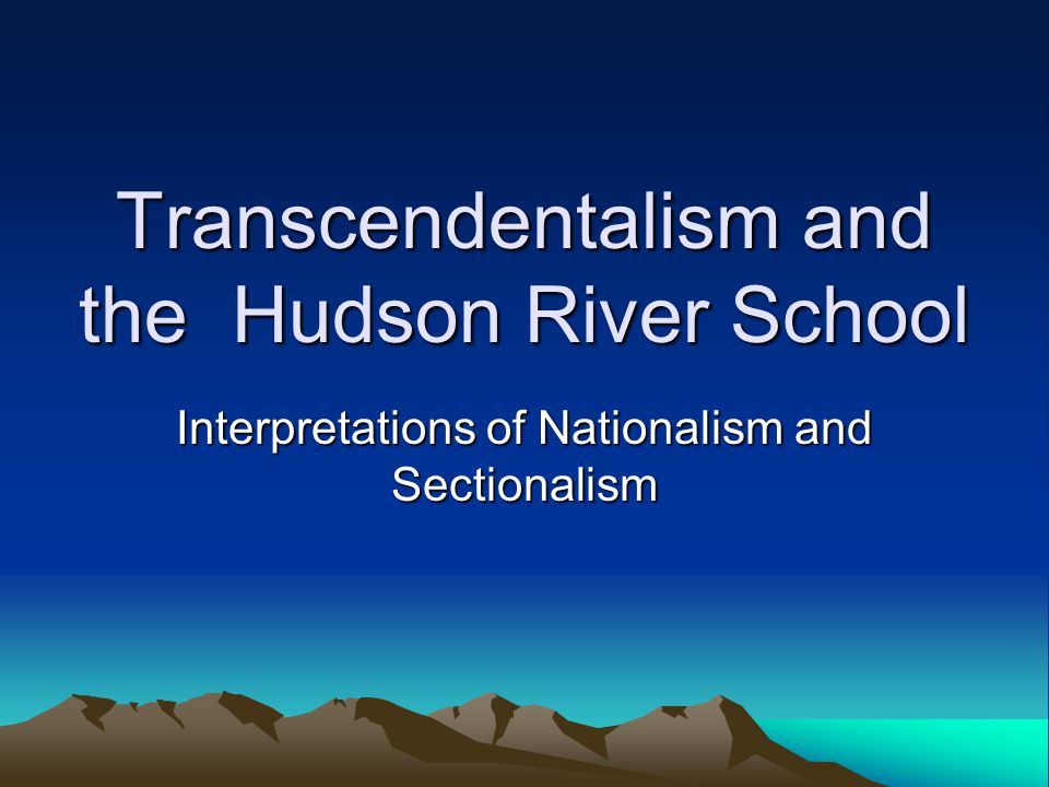 an analysis of transcendentalism a philosophical movement