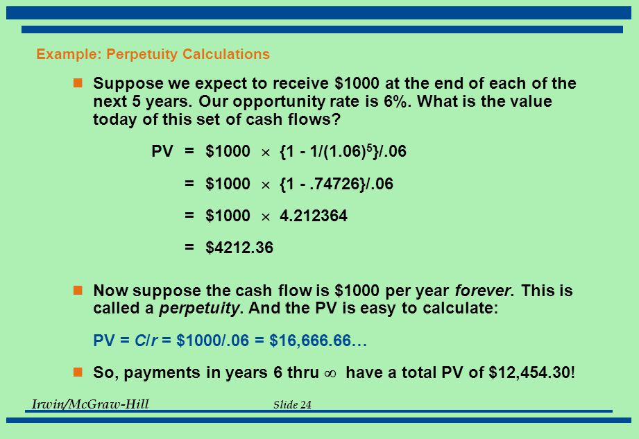 at a rate of 6 5 what is the future value of the following cash flow stream Learn about annuities and how their present and future values are calculated   415 internal rate of return 416 advantages and disadvantages of npv and  irr  consider the following annuity cash flow schedule:  $1,000 every year  for the next five years, and you invested each payment at 5%  i = interest rate.
