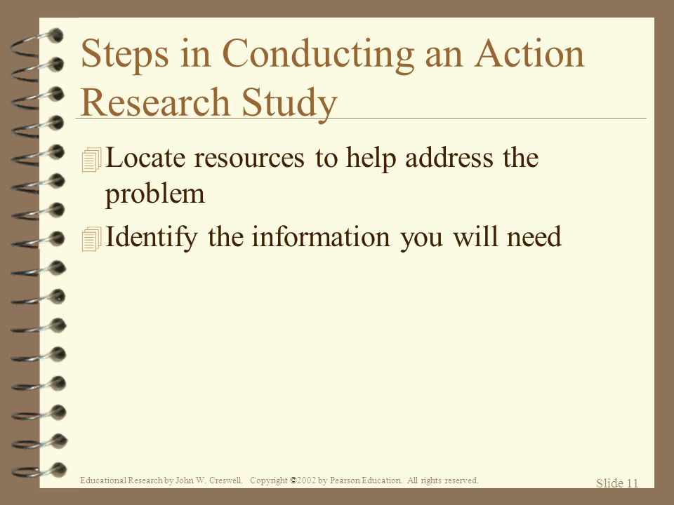 Steps in Conducting an Action Research Study