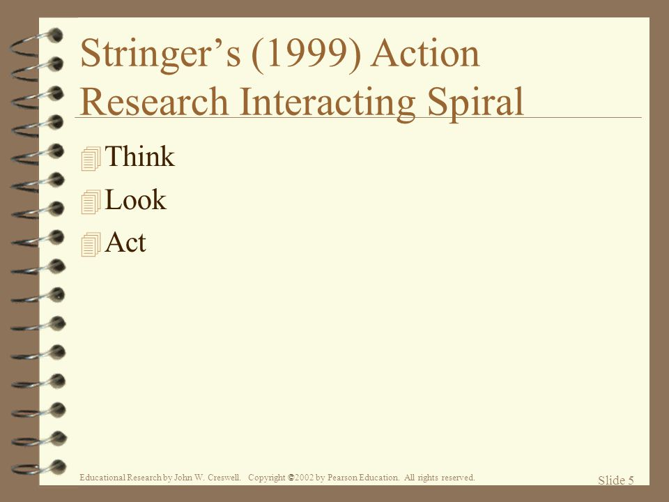 Stringer's (1999) Action Research Interacting Spiral