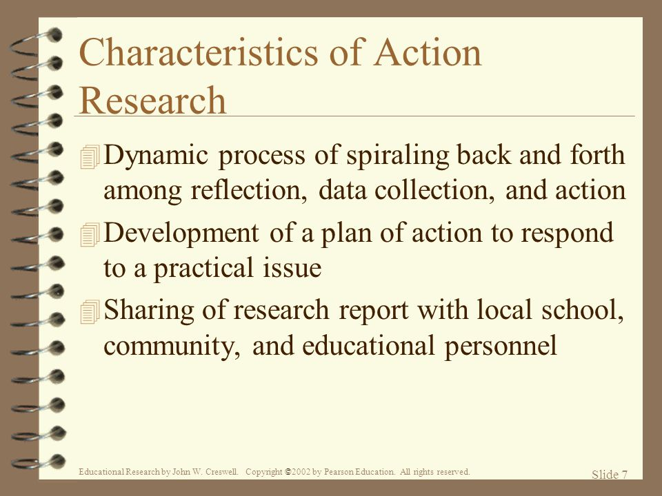 Characteristics of Action Research