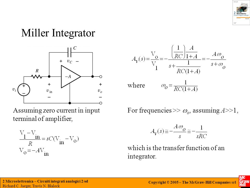 Miller Integrator where