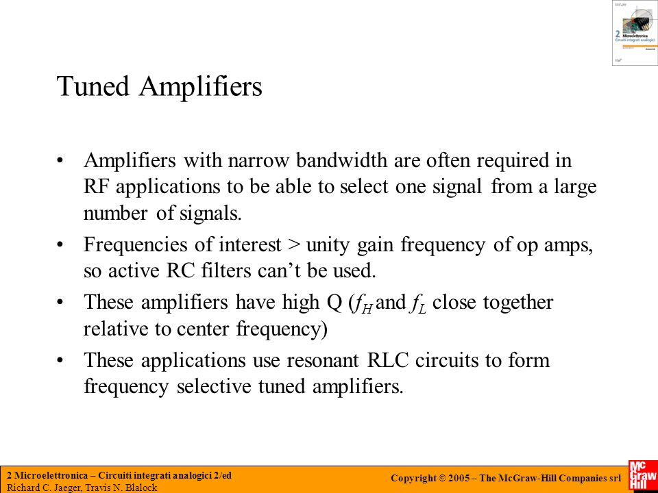 Tuned Amplifiers