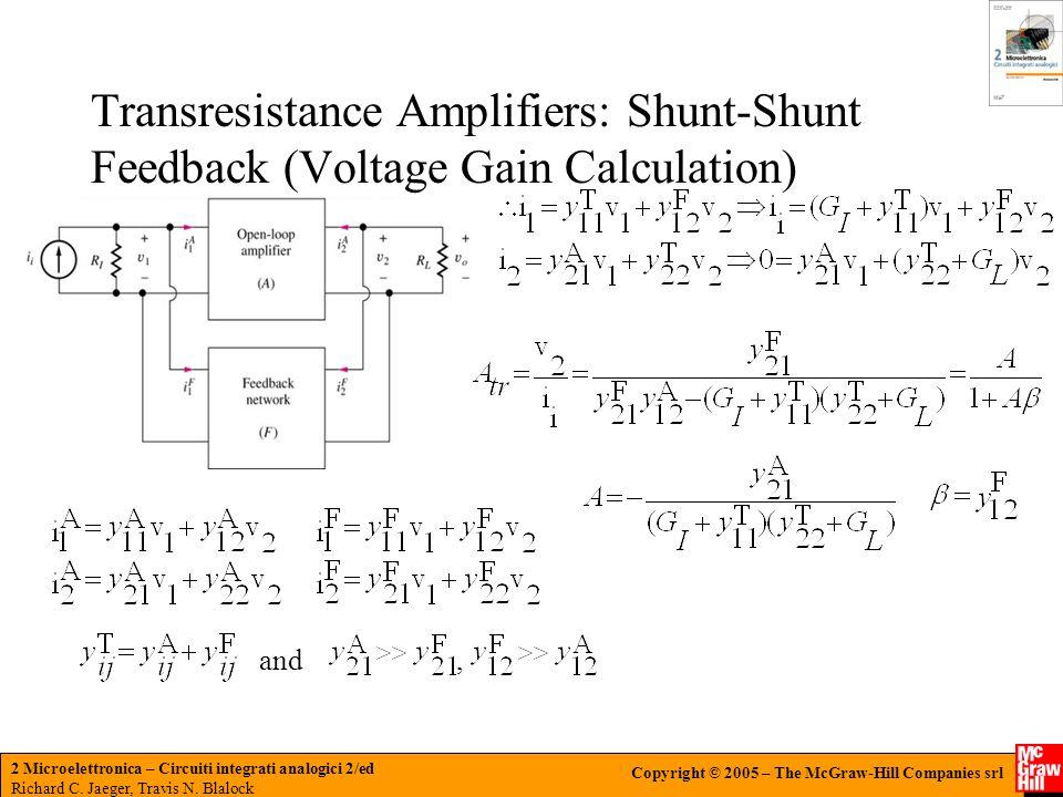 Transresistance Amplifiers: Shunt-Shunt Feedback (Voltage Gain Calculation)