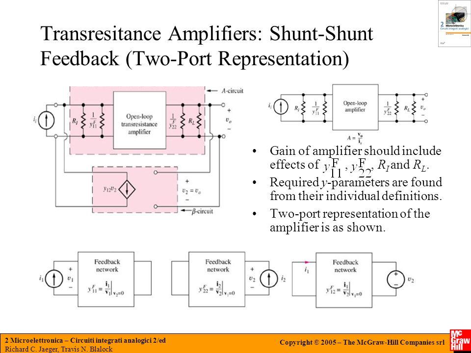 Transresitance Amplifiers: Shunt-Shunt Feedback (Two-Port Representation)