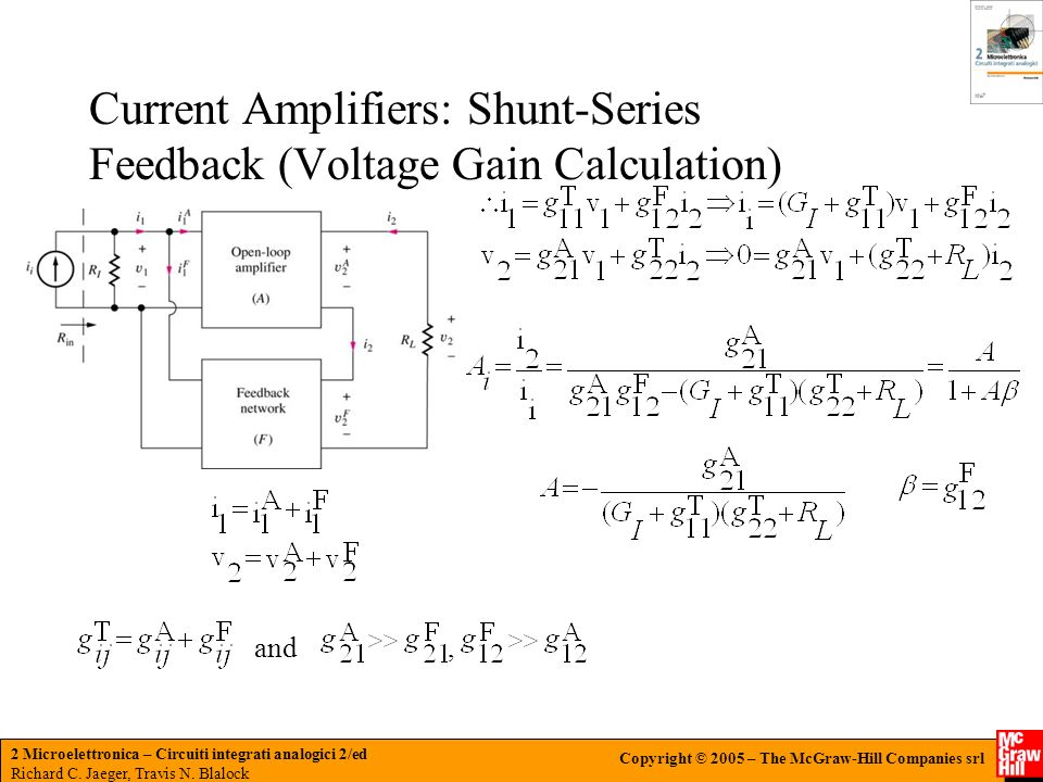 Current Amplifiers: Shunt-Series Feedback (Voltage Gain Calculation)