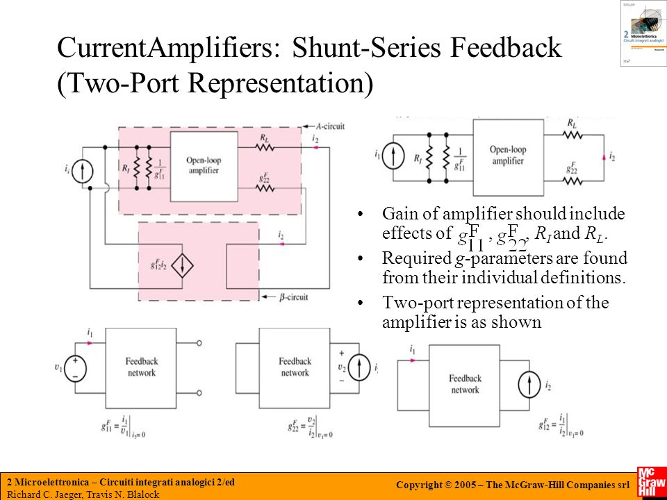 CurrentAmplifiers: Shunt-Series Feedback (Two-Port Representation)