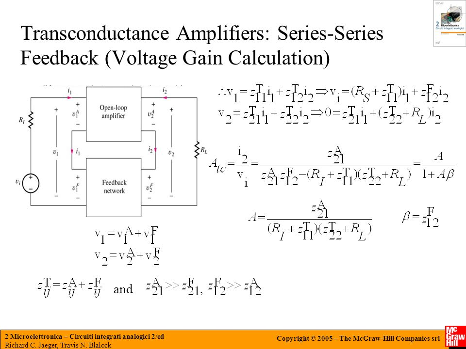 Transconductance Amplifiers: Series-Series Feedback (Voltage Gain Calculation)