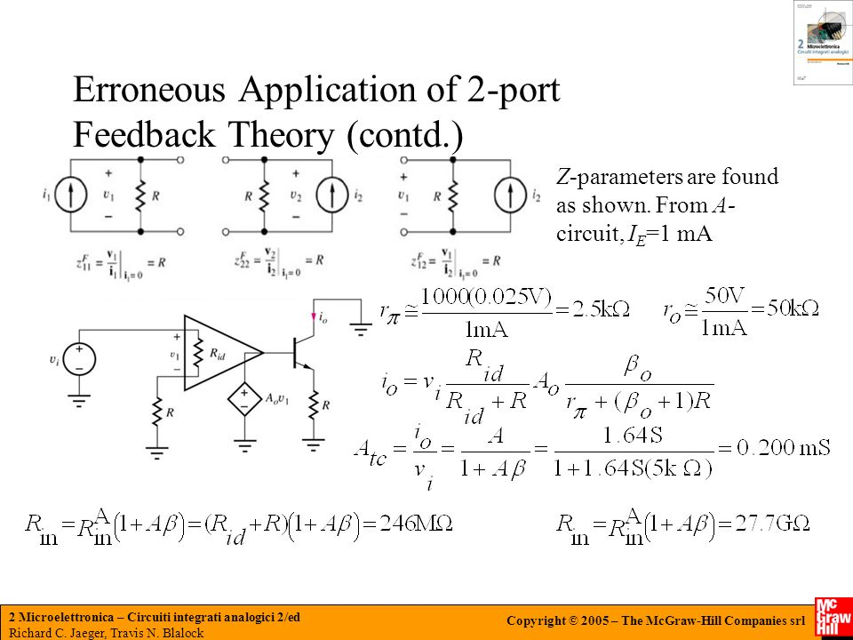 Erroneous Application of 2-port Feedback Theory (contd.)