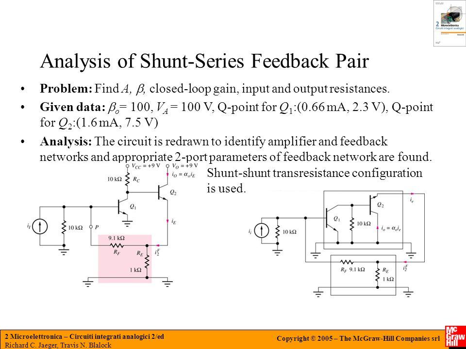 Analysis of Shunt-Series Feedback Pair