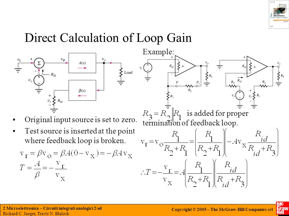 Direct Calculation of Loop Gain