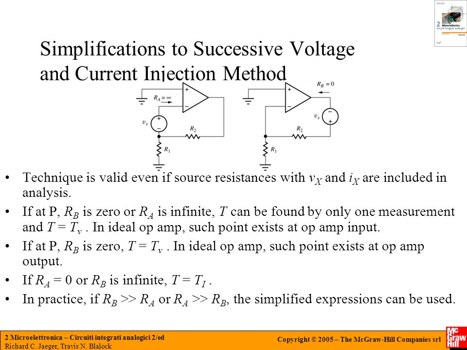 Simplifications to Successive Voltage and Current Injection Method