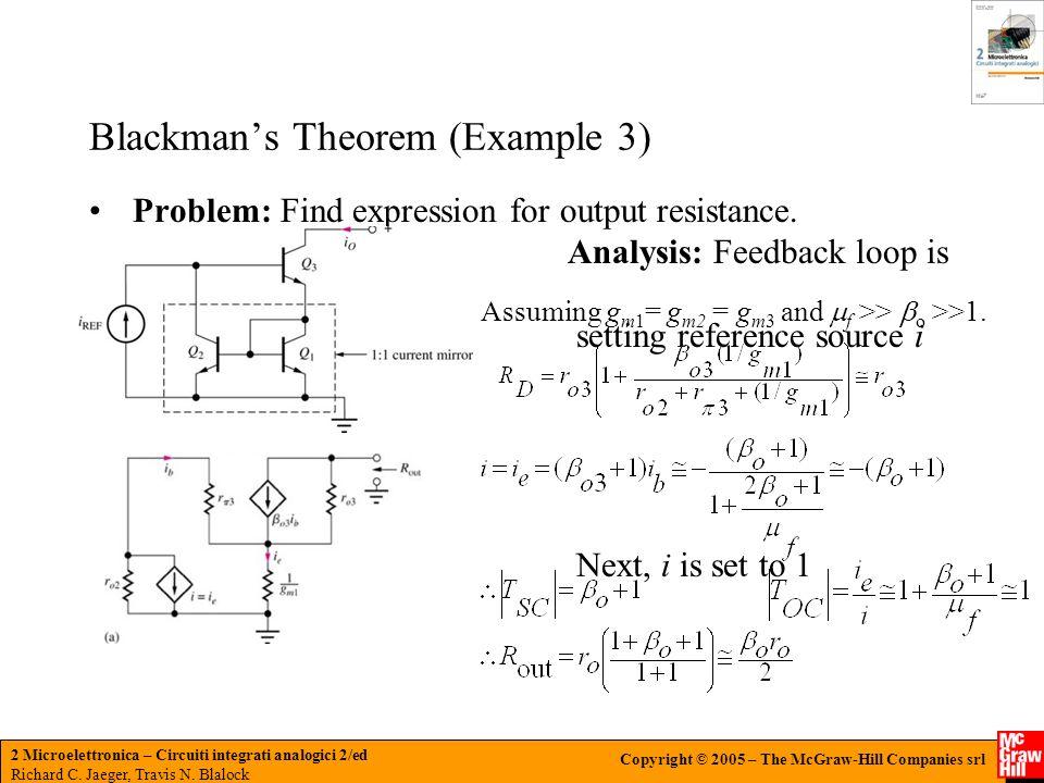 Blackman's Theorem (Example 3)