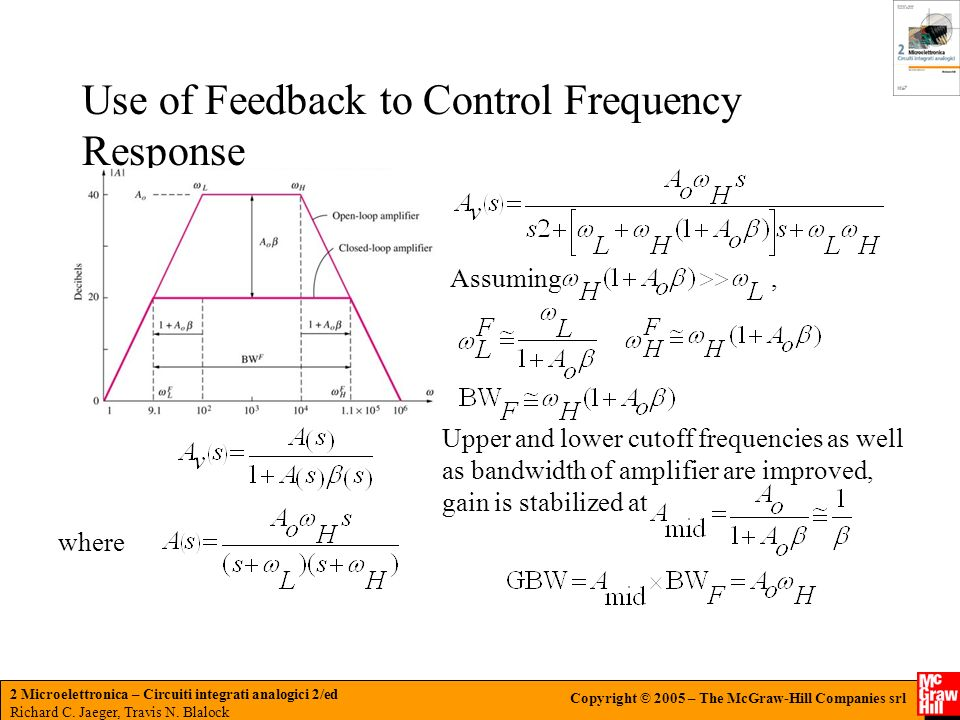 Use of Feedback to Control Frequency Response