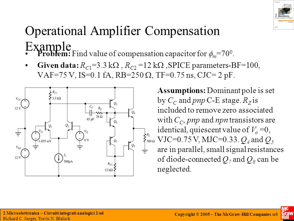 Operational Amplifier Compensation Example