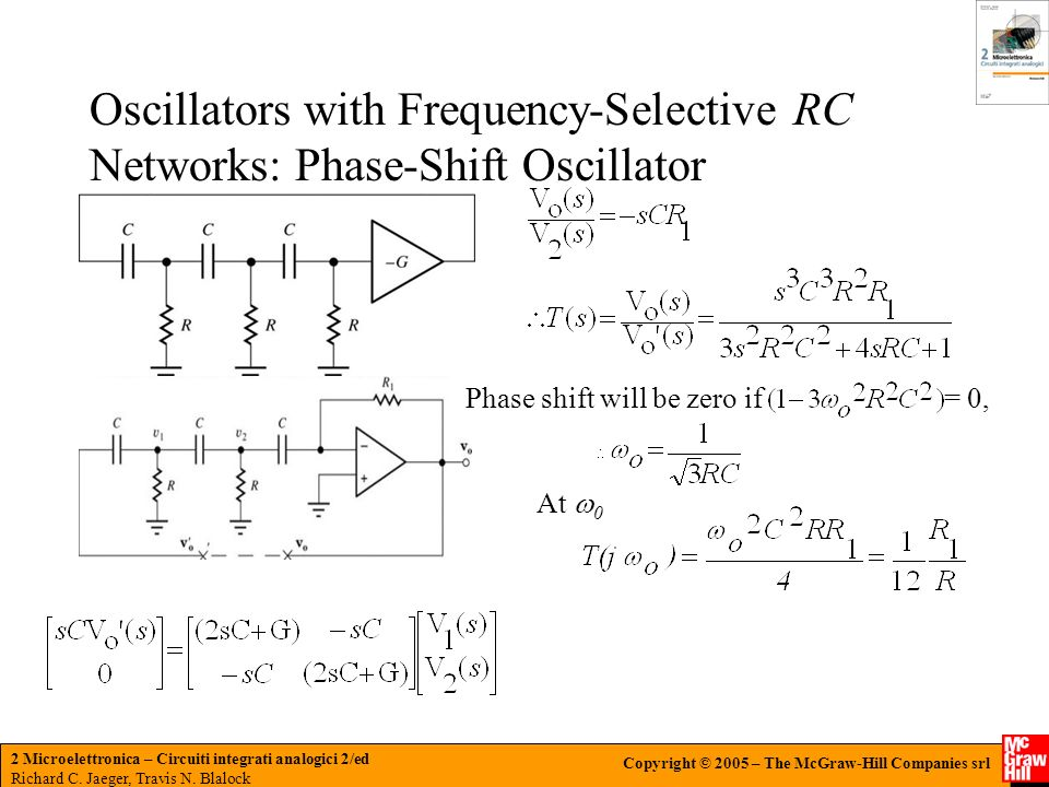 Oscillators with Frequency-Selective RC Networks: Phase-Shift Oscillator