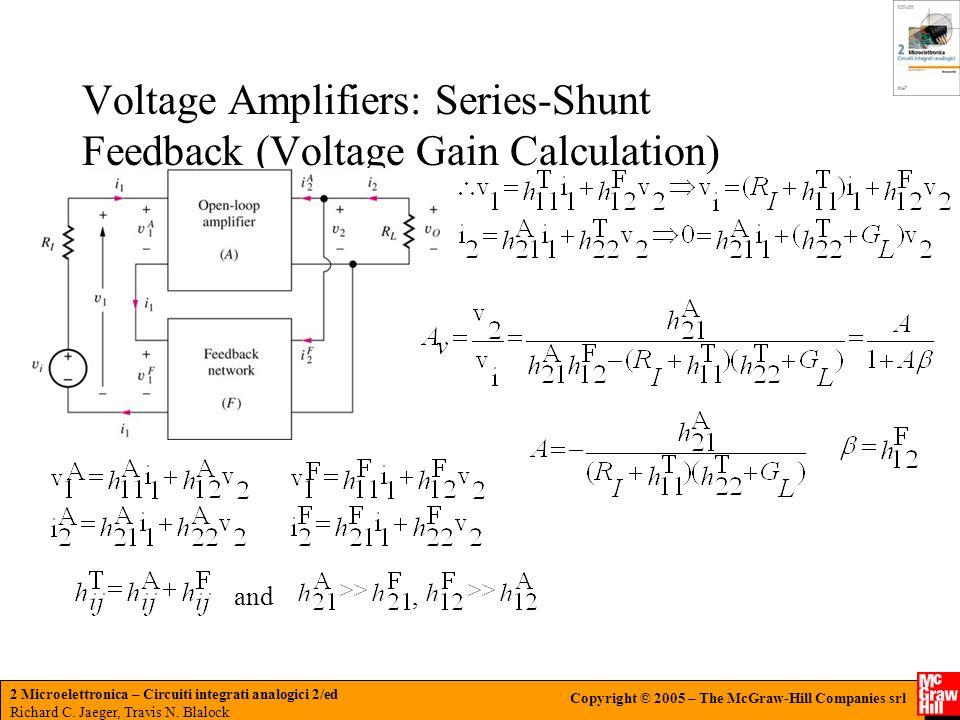 Voltage Amplifiers: Series-Shunt Feedback (Voltage Gain Calculation)