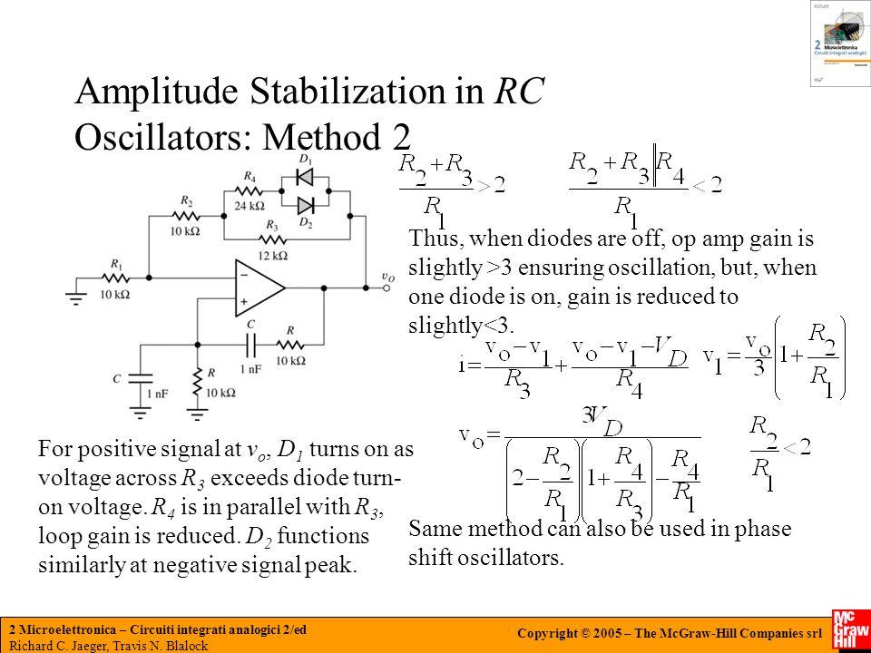 Amplitude Stabilization in RC Oscillators: Method 2