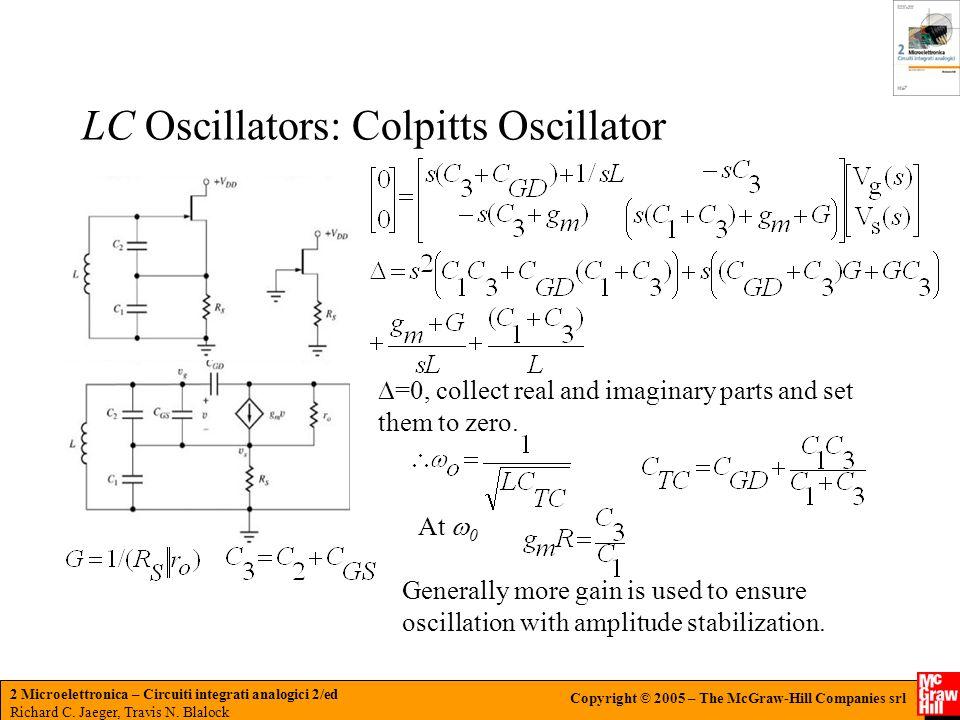 LC Oscillators: Colpitts Oscillator